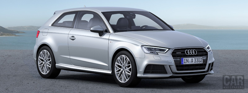Обои автомобили Audi A3 2.0 TDI quattro S-line - 2016 - Car wallpapers