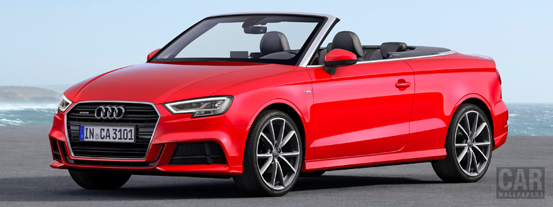 Обои автомобили Audi A3 Cabriolet 2.0 TDI quattro S-line - 2016 - Car wallpapers