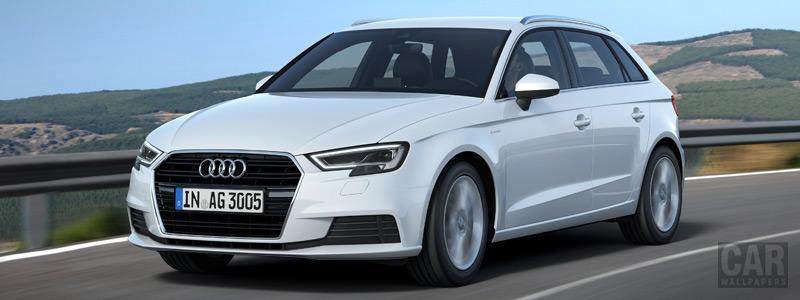 Обои автомобили Audi A3 Sportback g-tron - 2016 - Car wallpapers