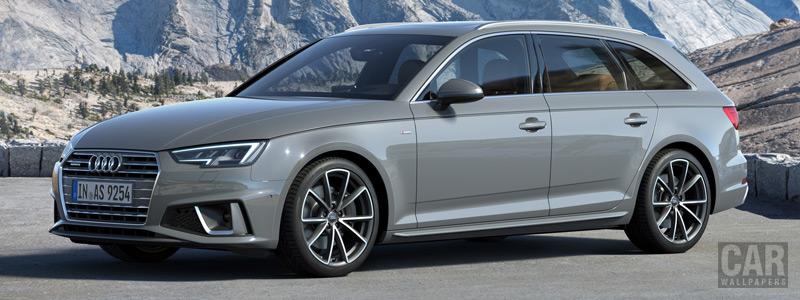 Обои автомобили Audi A4 Avant S line quattro - 2018 - Car wallpapers