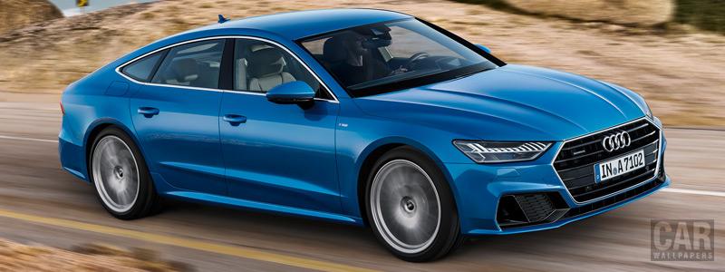 Обои автомобили Audi A7 Sportback quattro S line - 2018 - Car wallpapers