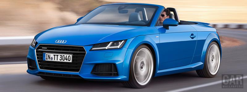 Обои автомобили Audi TT Roadster 2.0 TFSI quattro S line - 2014 - Car wallpapers