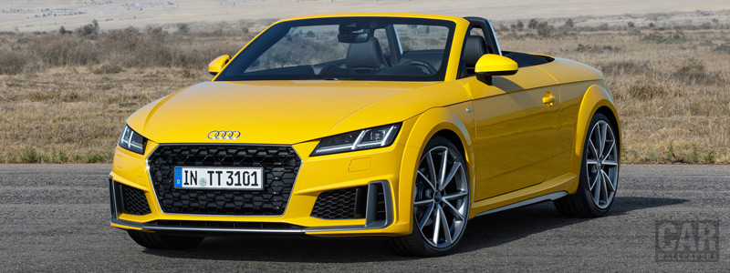 Обои автомобили Audi TT Roadster S line - 2018 - Car wallpapers